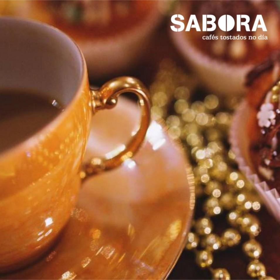 Café en las comidas de Navidad