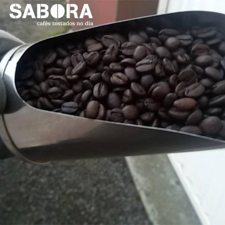 Café grano recién tostado