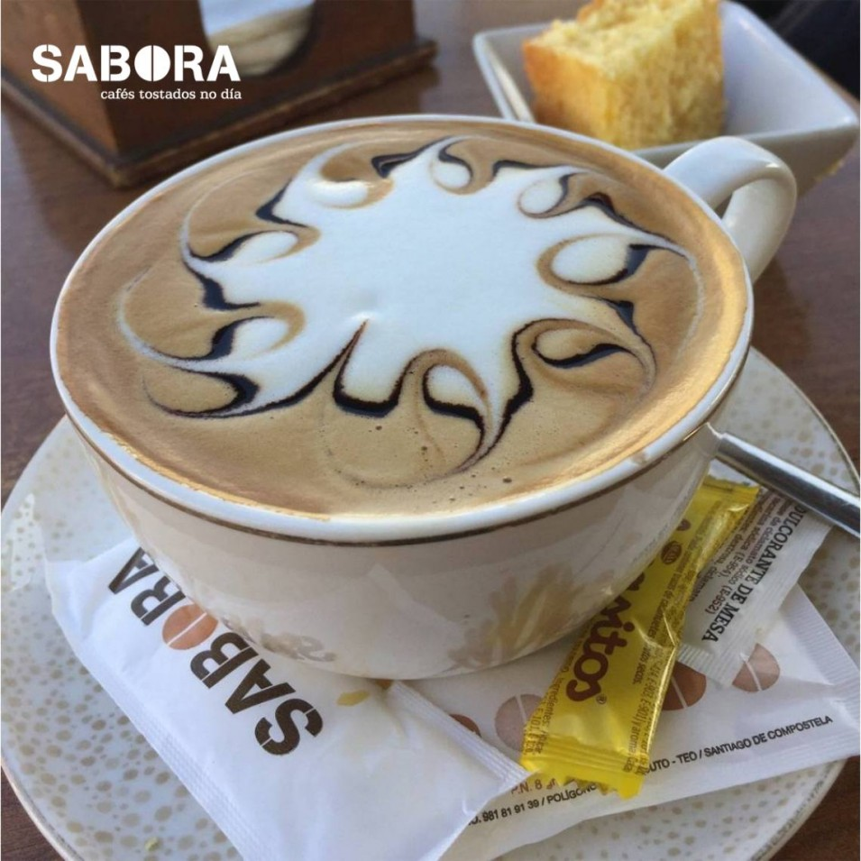 Café moka con latte art