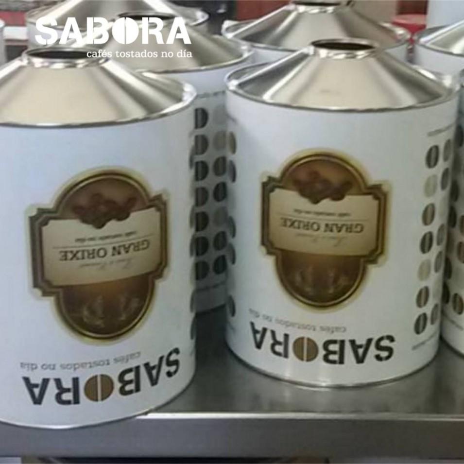 Cafés  para Hostelería Sabora envasados recientemente.