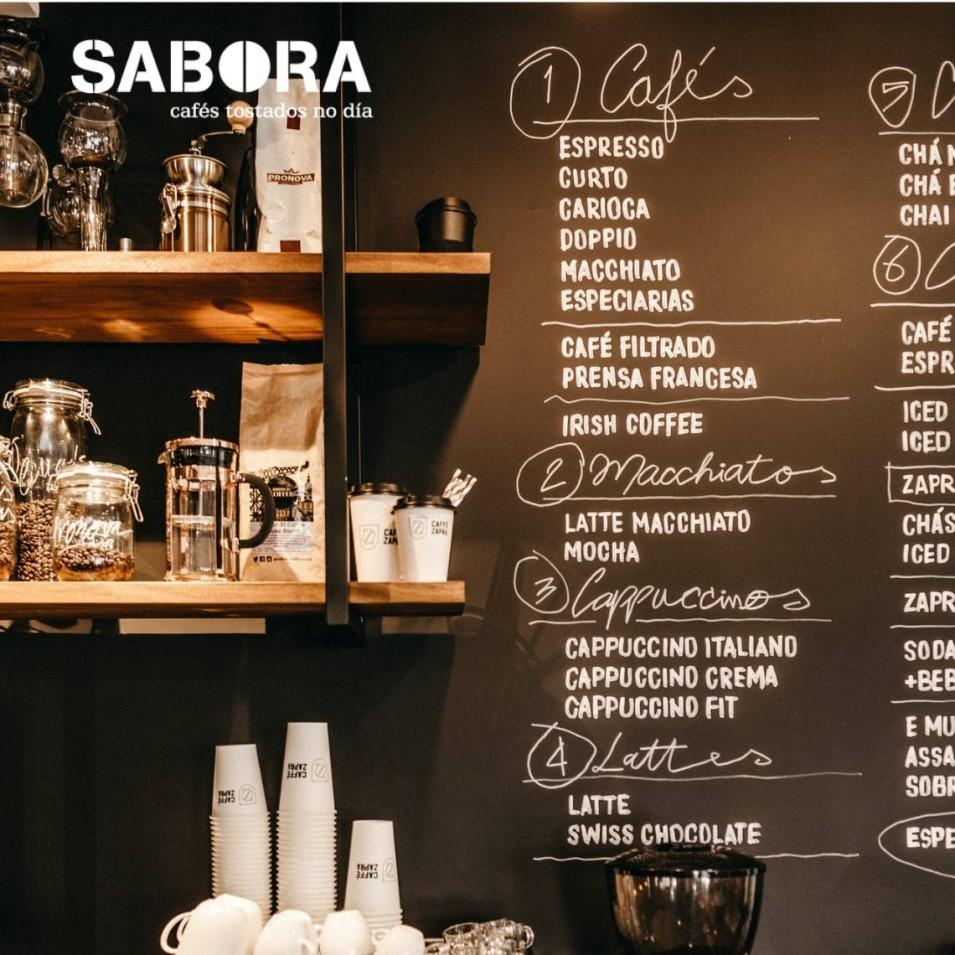 Tipos de café nunha cafetería