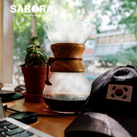 Café solo en cafetera Chemex