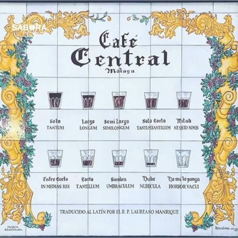 Mosaico del Café Central en Malaga