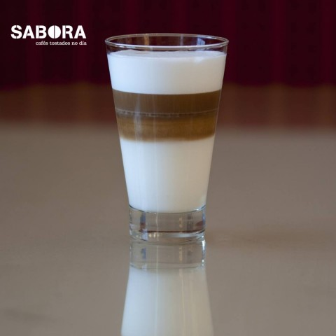 Tres capas en  este café